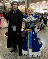 Saber and Kiritsugu cosplay by Darkprincess92