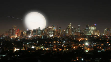 Ortigas Center Nightscape by celdaran