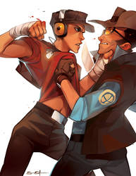 Scout vs Snipah by fayrenpickpocket