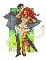 Eriol and Nausicaa by fayrenpickpocket