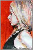 Red, white, black by LORETANA