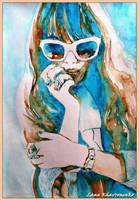 White sunglasses 2 by LORETANA