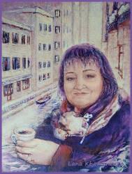 Portrait of a woman by LORETANA