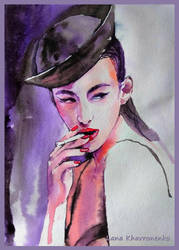 Portrait of a girl by LORETANA