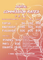 2018 COMMISSION RATES by Xamrock-ART