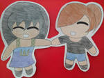 Chibi Tori and Andie cut out by popularca2