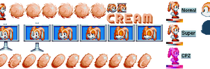 Cream the Rabbit (Classic) - Sonic Mania Style by DogeMayo