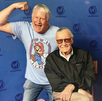 Stan Lee and Charles Martinet by austinschaub