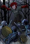 Lyn versus skeleton warriors by ZombieRoomie