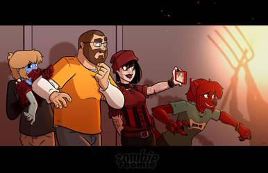 Updated Hallway print by ZombieRoomie
