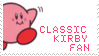 Classic Kirby Stamp by LaughingKirby