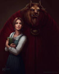 La Belle et la Bete - Beauty and the Beast by me-illuminated