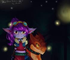 Dragon Trainer Tristana! Fanart by Mimyoi