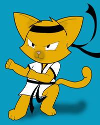 Kong Fu Kitty by Yuki-Oyu