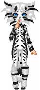 Skeleton Cat by Tuxedo-Kitten