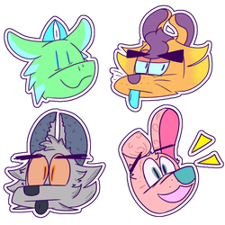 some stickers of mah bois and gurls by AxilThePowerbank