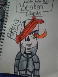 UnderTale Au- Broken Bonds Papyrus by crazyawesomegirl1234