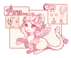 Aria Reference Sheet by Ariamouse