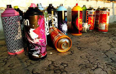 Graffiti Spray cans 2 by Eponefive