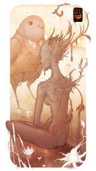 Fairy and Bird by Felideus