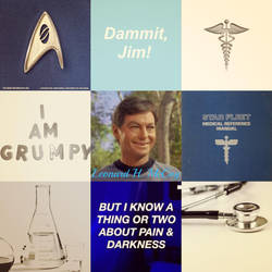 Leonard McCoy Aesthetic #1 by sweetnursechapel