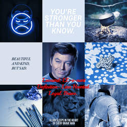 Leonard McCoy Aesthetic #2 by sweetnursechapel