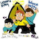 Spock, Kirk, and McCoy tribute by sweetnursechapel