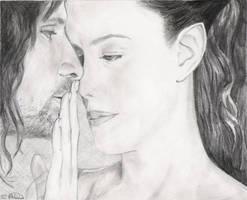 Arwen and Aragorn by kcbird3