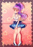 [ Redraw ] Kawaii girl by decimeki
