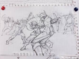Sketching  by Visnus