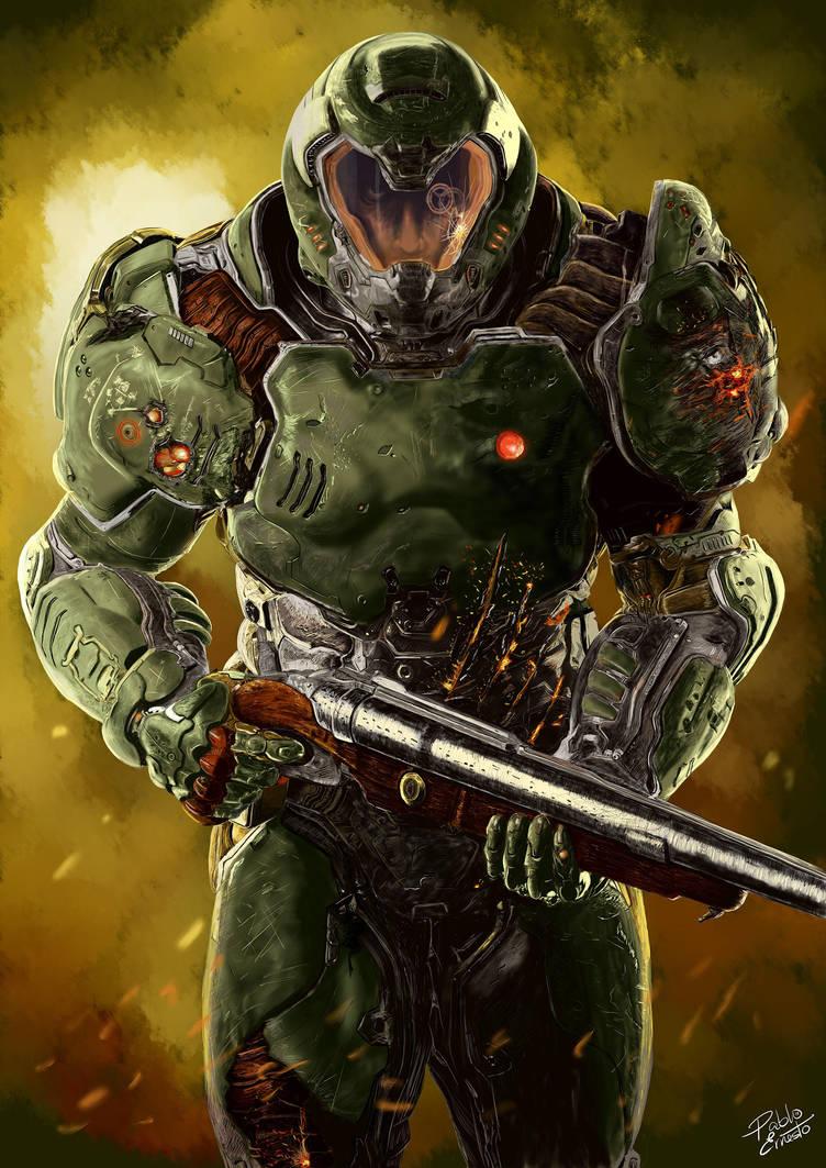 Doom Slayer (from DOOM 2016) by pabloernesto on DeviantArt