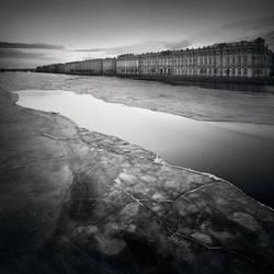 Palace Embankment, Study 2  St. Petersburg, Ru by kapanaga