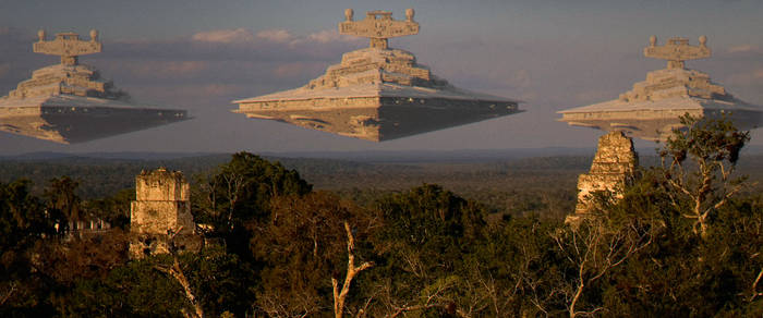 Star Wars - Star Destroyer F - Attack on Yavin 4 by BB22Andy