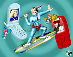 Cellular Surfer by K-S-O