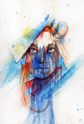 Face With Blues by TheArta