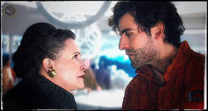 General Leia and Poe Dameron - The last Jedi - by Doveri