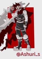 Hero Killer Stain fanart  by Ashuris