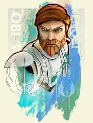 Obi-Wan Kenobi by SteveAndersonDesign