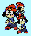 PaRappa doodles by Pheuxie