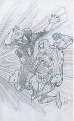Spidey vrs the Black Spider by bathill8