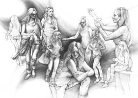 Amanda Seyfried - human drawing practice by Katarzyna-Kmiecik