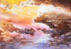 sky - watercolor practice 3 by Katarzyna-Kmiecik