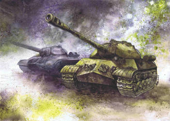 IS-3 tanks by Katarzyna-Kmiecik