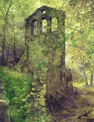 Ruins in the forest by Katarzyna-Kmiecik