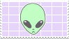 // alien stamp by anxi0usCactus