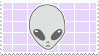 // gray alien stamp by anxi0usCactus