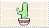 // cactus stamp by anxi0usCactus