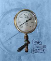A vintage brass steam gauge by CemaesMaritime