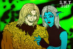 Sabretooth and Moryna (Commission) by TheAmazingMrSMY