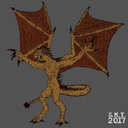 Volcanic Dragon by TheAmazingMrSMY